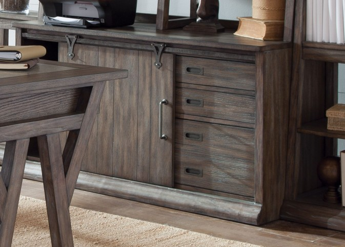 Stone Brook Rustic Saddle Computer Credenza