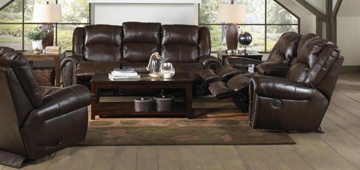 Jordan Tobacco Power Reclining Living Room Set