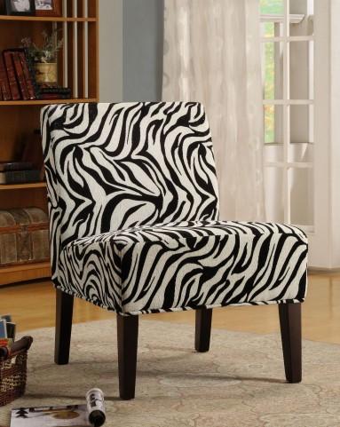 Lifestyle Armless Wild Zebra Pattern Lounge Chair