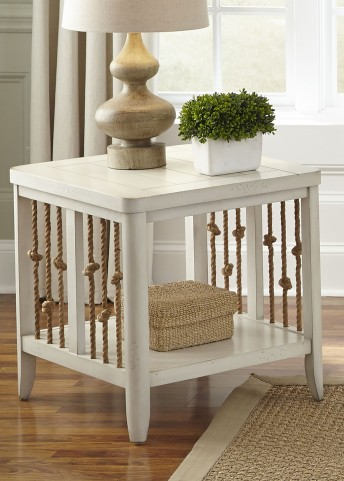 Dockside II White End Table