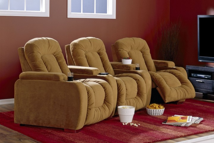 Rhumba Upholstered Power Reclining Home Theatre Seating