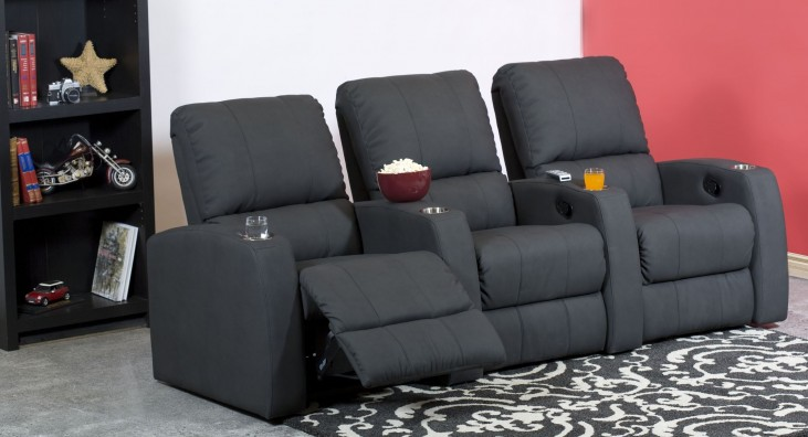Pacifico Vinyl Power Reclining Home Theatre Seating