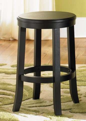 "Fourty Seven Rubbed Black and Cherry 24"" Barstool Set of 2"