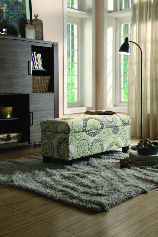 Clair Lift Top Floral Storage Bench