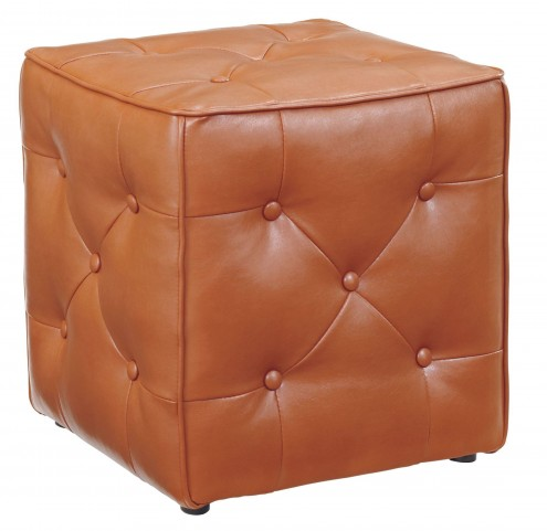 Jive Orange Accent Ottoman