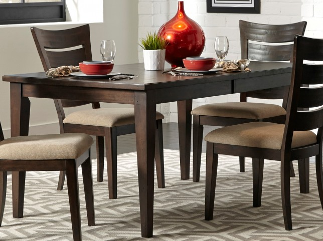 Pebble Creek II Weathered Tobacco Extendable Rectangular Leg Table