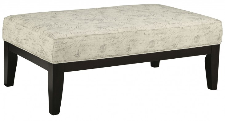 Baveria Gray Oversized Accent Ottoman
