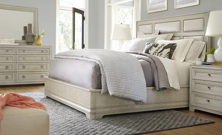 California Malibu Upholstered Platform Bedroom Set