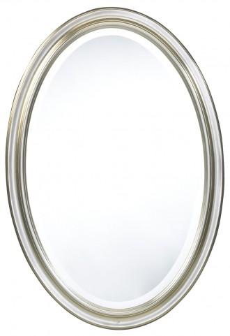 Blake White Oval Mirror