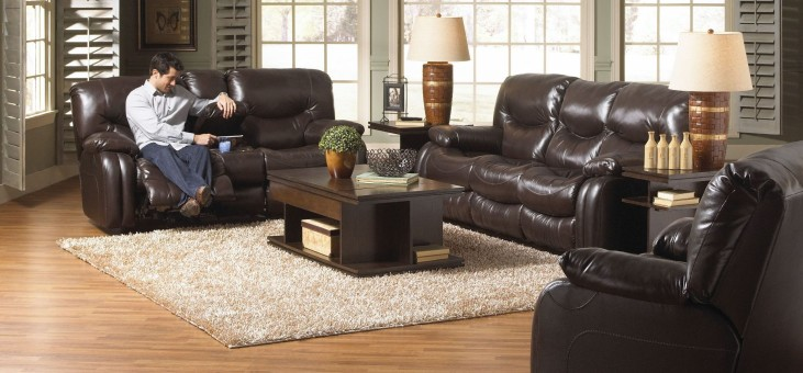 Arlington Mahogany Reclining Living Room Set