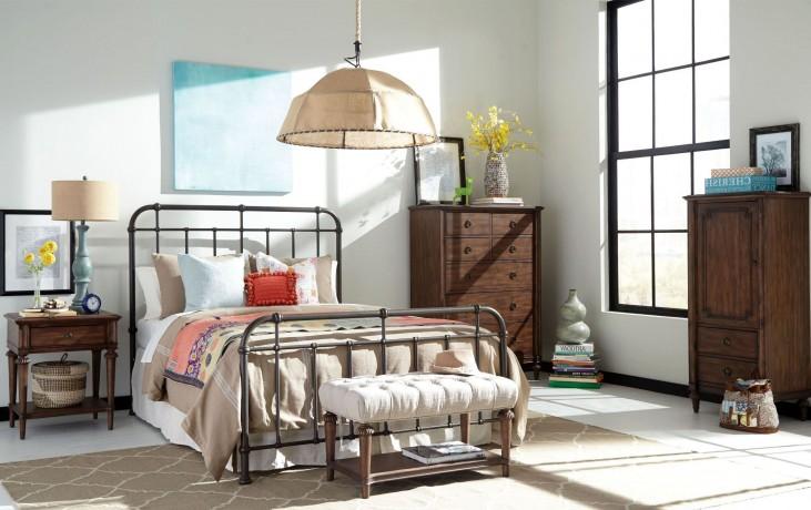 Cranford Spindle Metal Bedroom Set