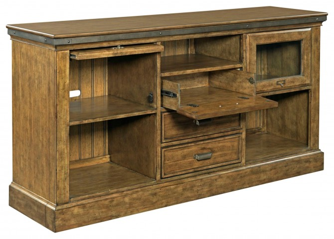 New Vintage Brown Barrister Console