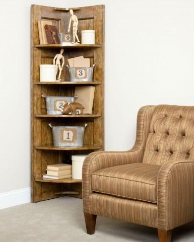 New Vintage Brown Corner Nik Nak Shelf
