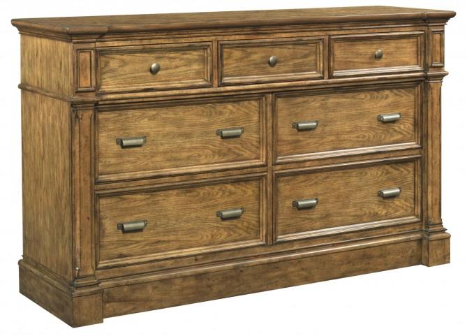 New Vintage Brown 7 Drawer Dresser