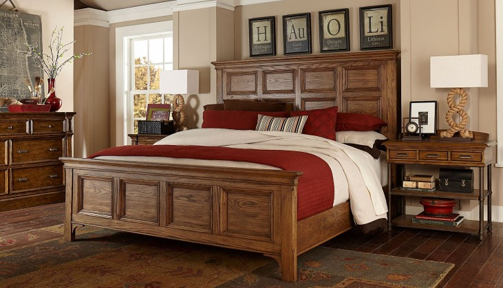 New Vintage Brown Panel Bedroom Set