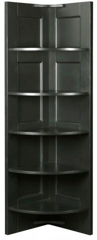 New Vintage Black Corner Nik Nak Shelf