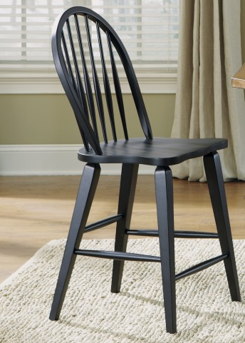 Hearthstone Black Windsor Back Counter Chair