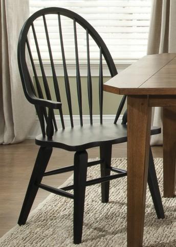 Hearthstone Black Windsor Back Arm Chair