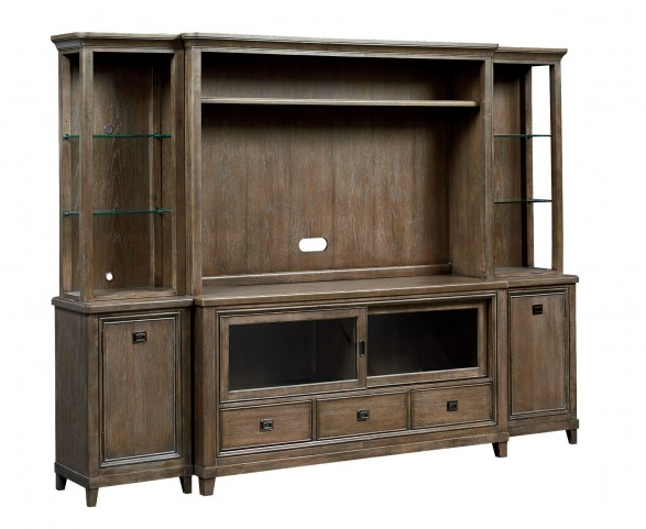 Park Studio Weathered Taupe Large Entertainment Wall