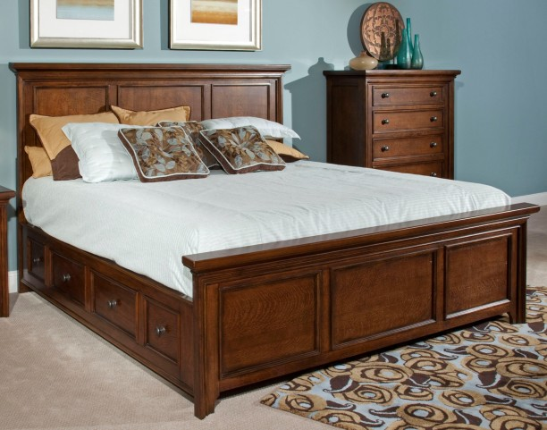 Abbott Bay Queen Panel Storage Bed