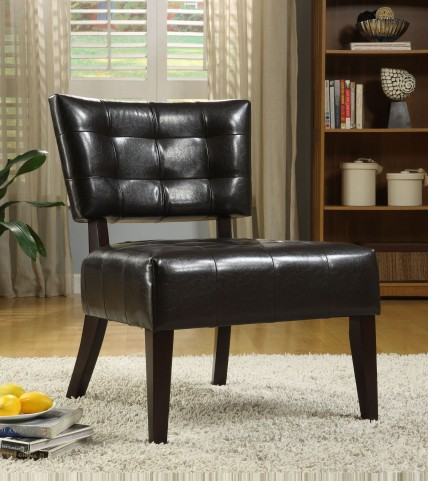 Warner Dark Brown Accent Chair