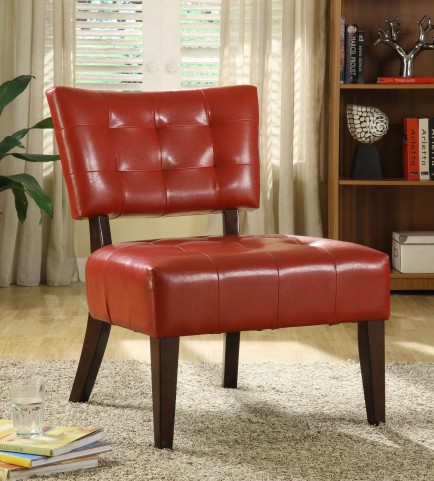 Warner Lava Red Accent Chair