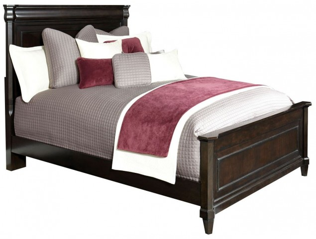 Aryell Dark Queen Panel Bed