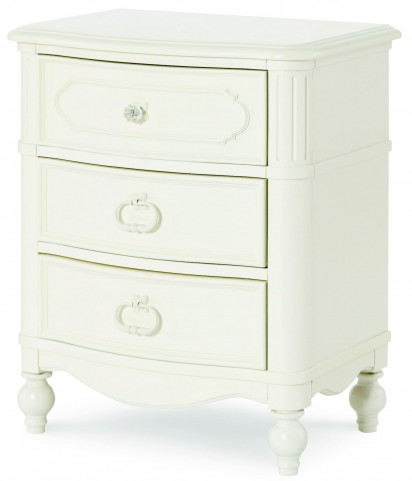 Harmony Antique Linen White 3 Drawer Nightstand