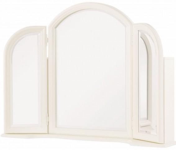 Harmony Antique Linen White Vanity Mirror