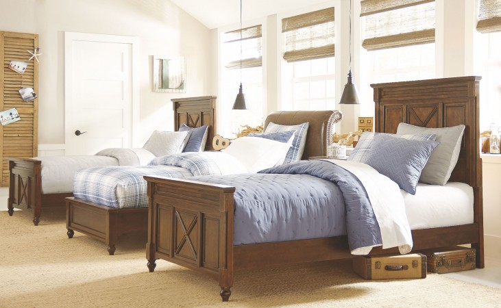 Big Sur Saddle Brown Youth Highlands Panel Bedroom Set