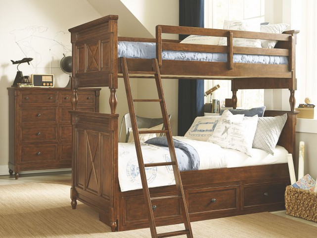 Big Sur Saddle Brown Bixby Bunk Bedroom Set