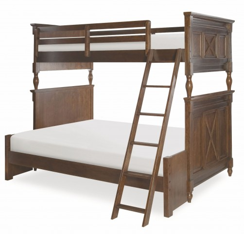 Big Sur Saddle Brown Twin over Full Bixby Bunk Bed