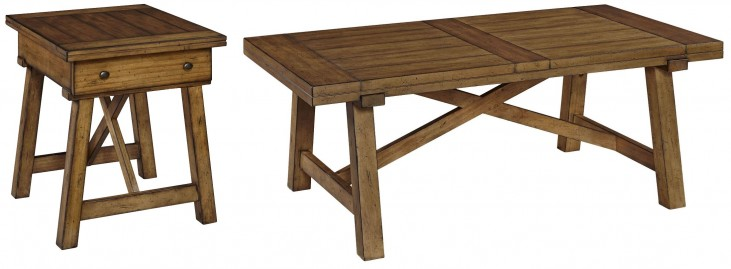 Bethany Square Brown Occasional Table Set