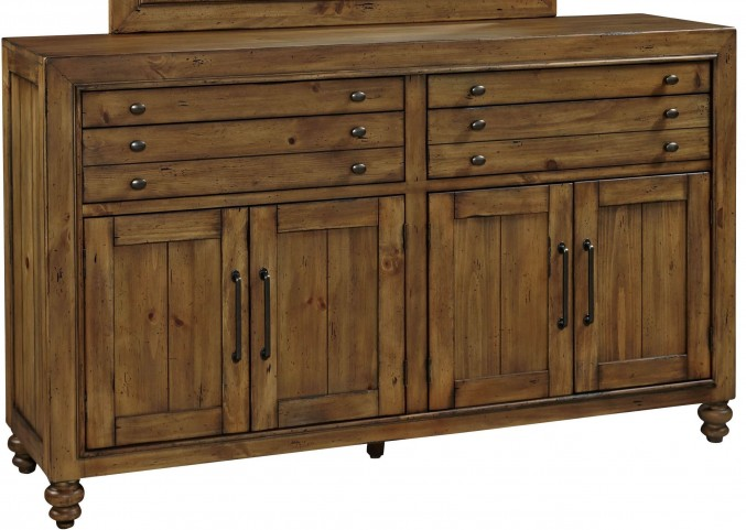 Bethany Square Brown Door Dresser