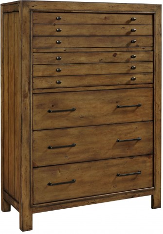 Bethany Square Brown 6 Drawer Chest