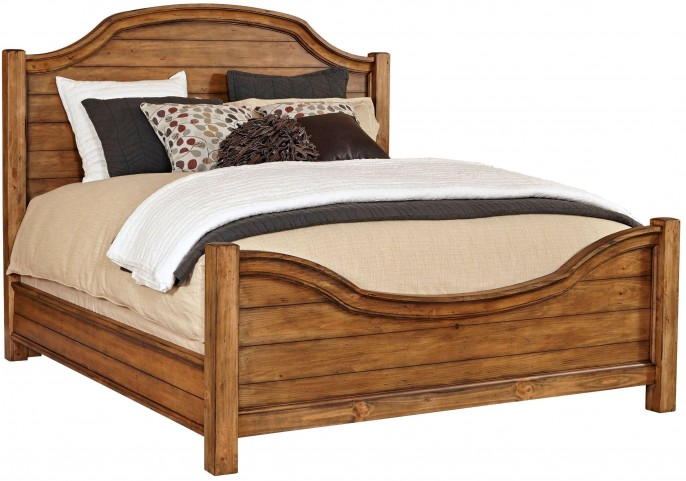 Bethany Square Brown Queen Panel Bed