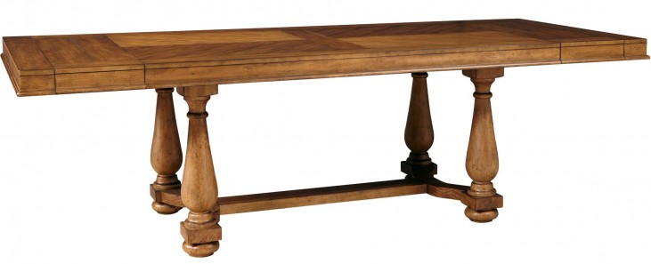 Bethany Square Brown Trestle Dining Table