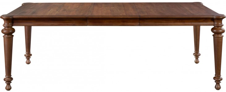 Cascade Extendable Rectangular Leg Dining Table
