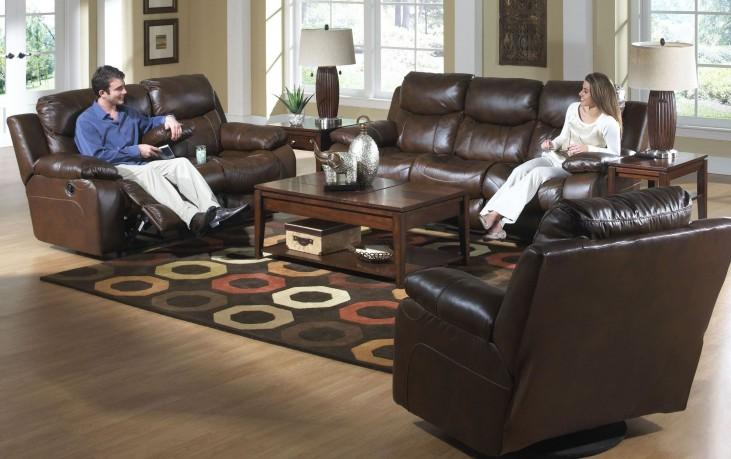 Dallas Tobacco Power Reclining Living Room Set