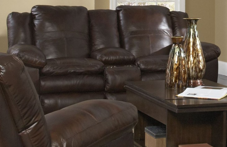 Sonoma Sable Reclining Loveseat with Console