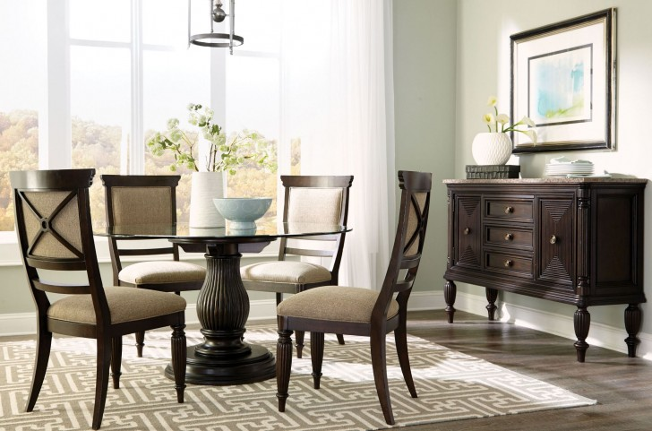 "Jessa 54"" Adjustable Round Dining Room Set"