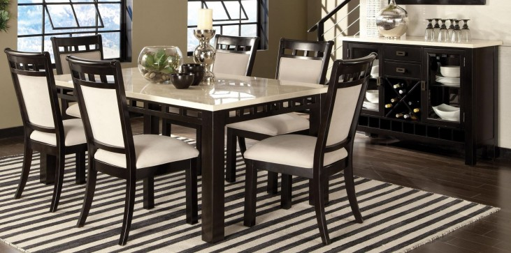 Gateway Brown and White Rectangular Dining Room Set