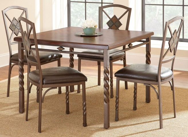 Annabella Medium Oak Square Dining Room Set