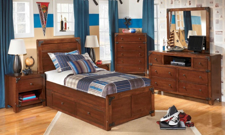Delburne Youth Panel Storage Bedroom Set