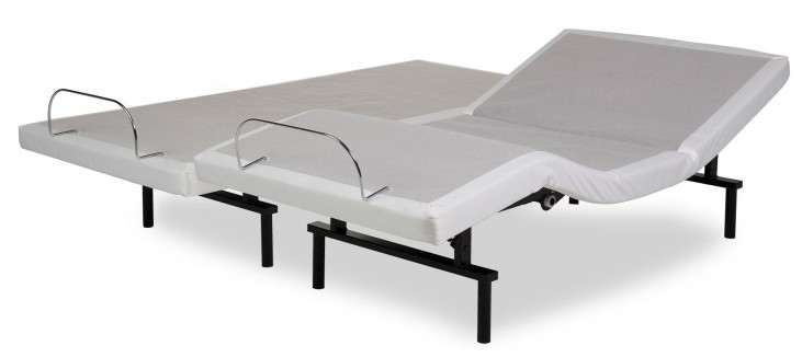 Vibrance White Cal. King Adjustable Bed
