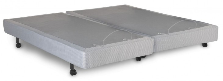 S-Cape Gray Polyester Split Cal. King Adjustable Bed
