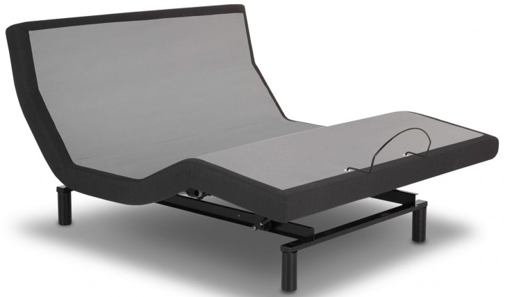 S-Cape Black Queen Adjustable Bed
