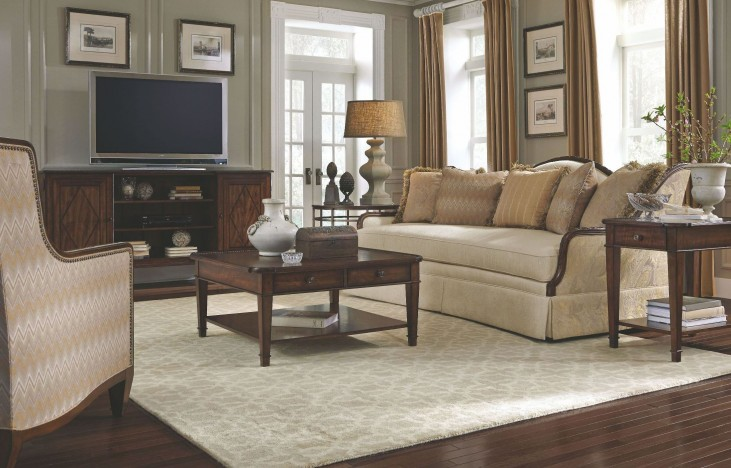 Ava Creme Living Room Set