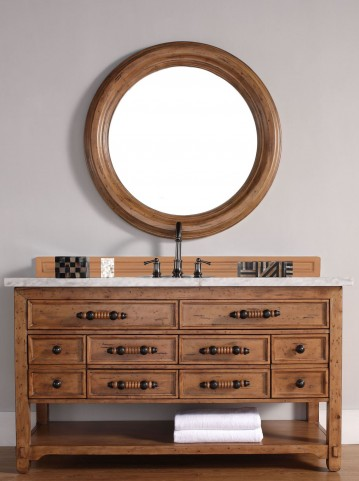 "Malibu 60"" Honey Alder Single 4CM Top Vanity Set"