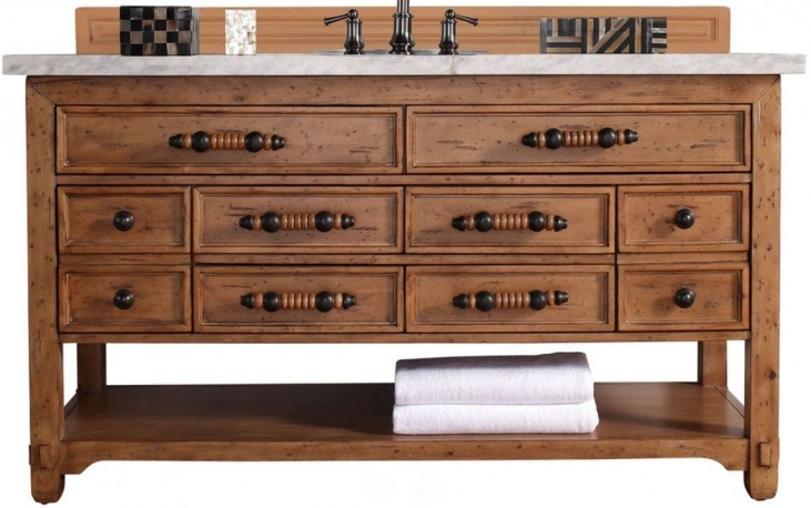 "Malibu 60"" Honey Alder Single 4Cm Top Vanity"